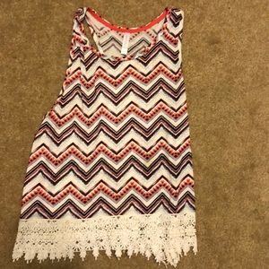 Tank with Lace Bottom